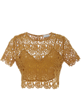 Miguelina Lulu Lace Short Sleeved Top