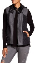 Tart Donnah Faux Fur Lined Vest with Retractable Hood