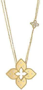 Roberto Coin Women's Venetian Princess 18K Yellow Gold & Diamond Pendant Dual-Chain Necklace