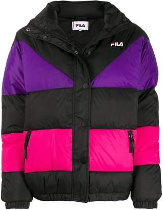 Fila Reilly colour-block puffer jacket