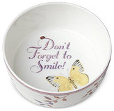 Lenox Butterfly Meadow Everyday Celebrations Don't Forget To Smile Bowl