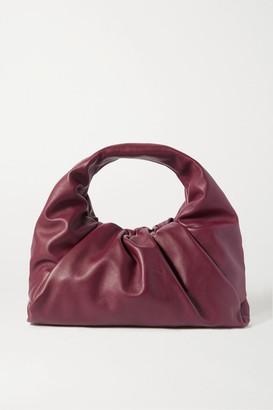 Bottega Veneta The Shoulder Pouch Gathered Leather Bag - Burgundy