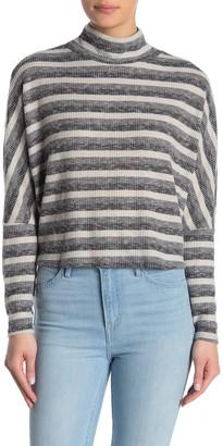 Abound Stripe Mock Neck Dolman Sleeve Sweater