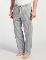 John Lewis Woodlands Stripe Lounge Pants, Blue/white