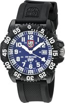 Luminox Men's Scott Cassell 3054.SET Rubber Swiss Quartz Watch with Blue Dial