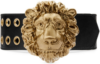 Gucci Lions Head Wide Leather Belt