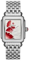 Michele Deco 16 Gingko Mother-Of-Pearl & Stainless Steel Bracelet Watch