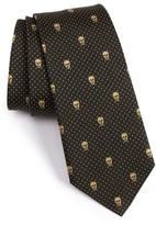 Alexander McQueen Men's Metallic Skull Silk Blend Tie