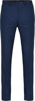 Oxford T27 Wool Suit Trousers Petrolblu X