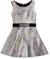 Zoë Ltd Sleeveless Metallic Fit-and-Flare Dress, Multicolor, Size 7-16
