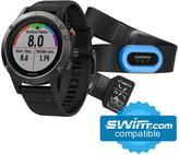 Garmin fenix 5 MultiSport GPS Watch with Tri Heart Rate Monitor Bundle - 8157677