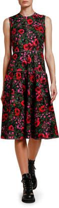 Marni Floral-Print Full-Skirt Dress