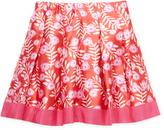 Oscar de la Renta Petite Roses Mikado Box Pleat Skirt