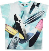 Molo Raul Jersey Surfboard Tee, Blue/Multicolor, Size 4-12