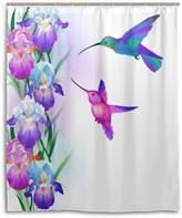 MRMIAN custom Stylish Decorative unique Cool Funky Fabric Water-Repellent Mildew-Resistant diy Bath Shower Curtain Bathroom Curtain Drawing Hummingbird Flower