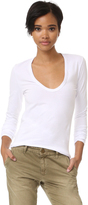Enza Costa Brushed Jersey U Neck Top