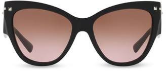 Valentino 55MM Butterfly Sunglasses