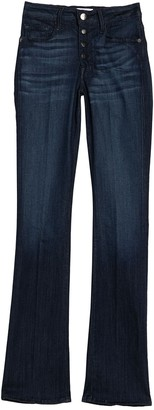 Frame Le Mini Button Front Bootut Jeans