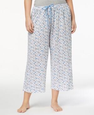 Hue Plus Size Icy Margarita Knit Capri Pajama Pants