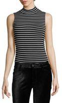 Paige Makenna Striped Bodysuit