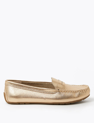 Marks and Spencer Leather Penny Loafers