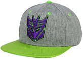 Bioworld Transformers Decepticon Men's Shiny Visor Snapback Hat Cap