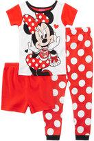Minnie Mouse 3-Pc. Cotton Pajama Set, Toddler Girls (2T-5T)