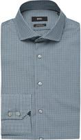 HUGO BOSS Micro-check regular-fit cotton shirt