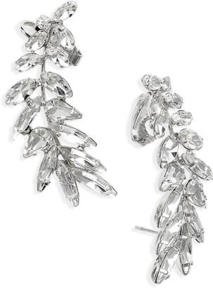 CRISTABELLE Crystal Ear Crawler Earrings