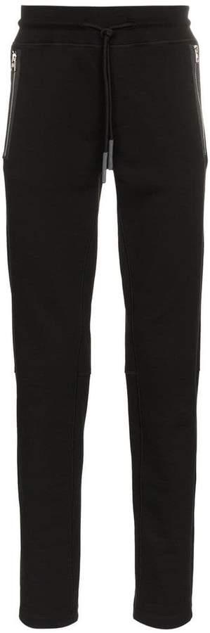 Moncler zipped pocket cotton sweatpants
