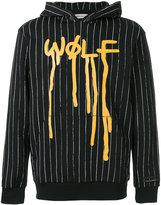 Palm Angels Wolf pinstripe hoodie