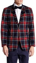 U.S. Polo Assn. Bill Red Tartan Two Button Notch Lapel Modern Fit Suit Separates Sports Coat