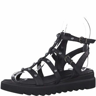 Tamaris Women Strappy Sandals 1-1-28230-22 Ladies Sandal Roman Sandals Gladiator Sandals Summer Shoes Comfortable Touch-IT