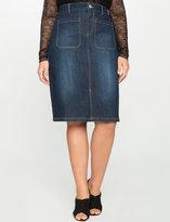 ELOQUII Plus Size Denim Pencil Skirt