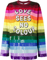 Ashish Love Sees No Colour sequin top