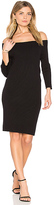 525 America Off Shoulder Sweater Dress in Black