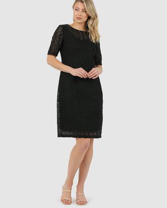 Faye Black Label - Women's Black Dresses - Shaped Shift Dress - Size One Size, 14 at The Iconic