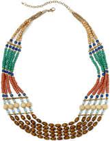 Arizona Multicolor Wood Bead Multi-Row Necklace