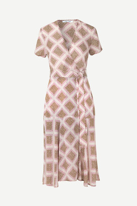 Samsoe & Samsoe Klea long dress aop 6621 - XS/34 | polyester | pink - Pink/Pink