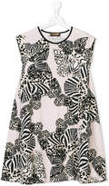 Roberto Cavalli multi animal print dress