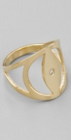 Jennifer Zeuner Evil Eye Ring with Diamond