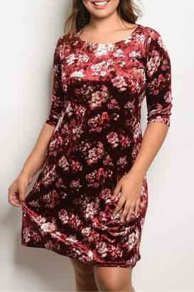 Shop The Trends Burgundy Velvet Dress