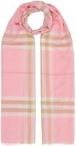 Burberry lightweight check scarf