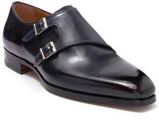 Magnanni Leather Monk Strap Dress Shoe