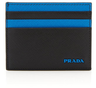 Prada Two-Tone Double-Sided Leather Card Case