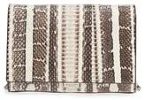 Michael Kors Small Yasmeen Genuine Snakeskin Clutch