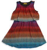 Nicole Miller Girls 7-16 Patterned Popover Dress