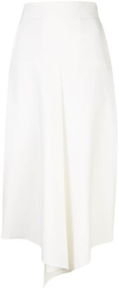 Tibi Anson stretch draped skirt