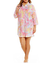 Lauren Ralph Lauren Plus His Shirt Paisley Sleepshirt