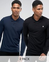 Asos 2 Pack Muscle Pique Polo With Logo Save